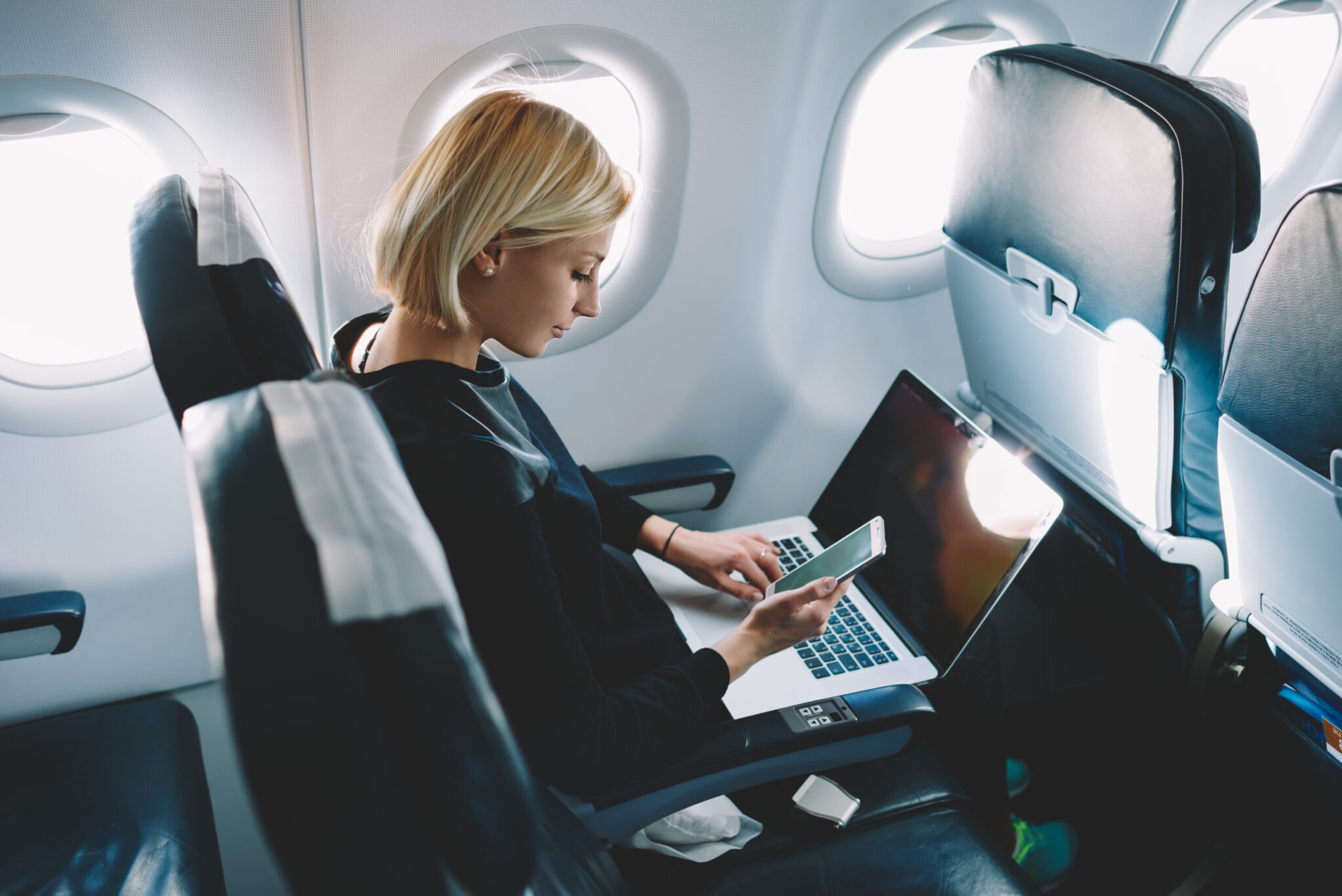 Woman In The Plane