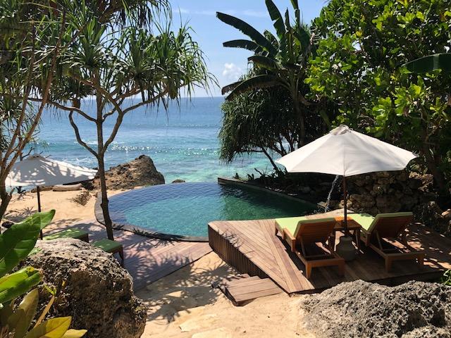 Beach Area With Sunbathing Area