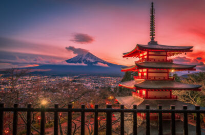 Chureito Pagoda And Mountain Fuji