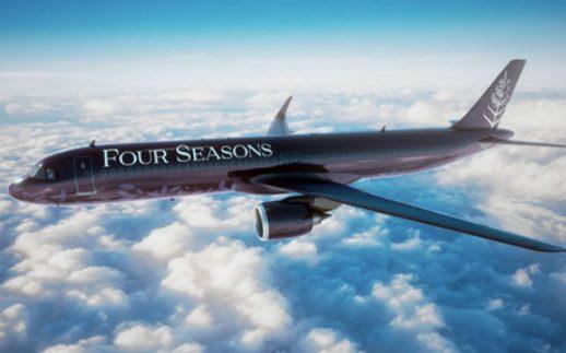 Black Four Seasons Plane
